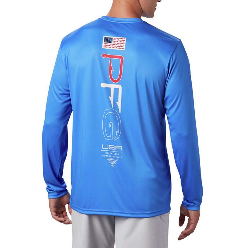 Columbia Men's PFG Terminal Tackle Americana Long-Sleeve Tee image number 3