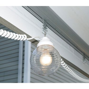 6 Clear Globe Lights with 30' Cord