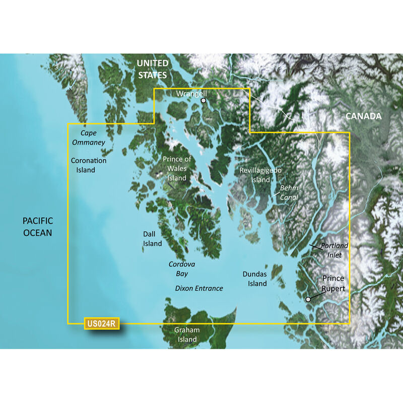 Garmin BlueChart g2 Vision HD Cartography, Wrangell, AK - Dixon Entrance image number 1