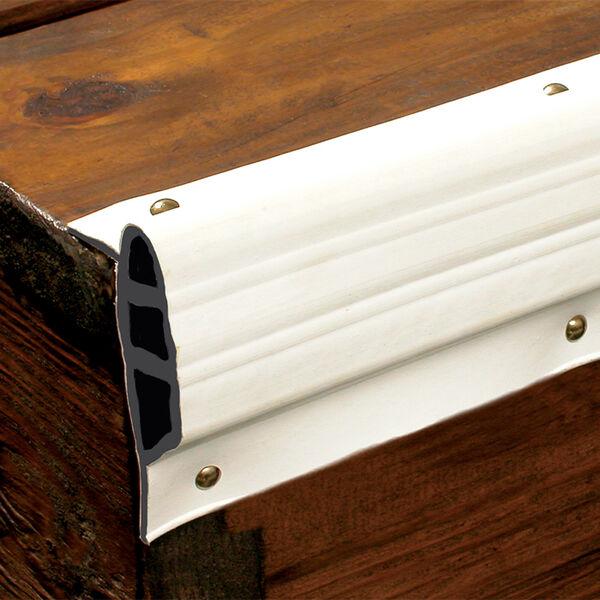 Dock Pro Vinyl Dock Edging White Medium Edge Gard 10' Coil
