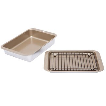 Compact Grill and Bake Set, 3 Piece