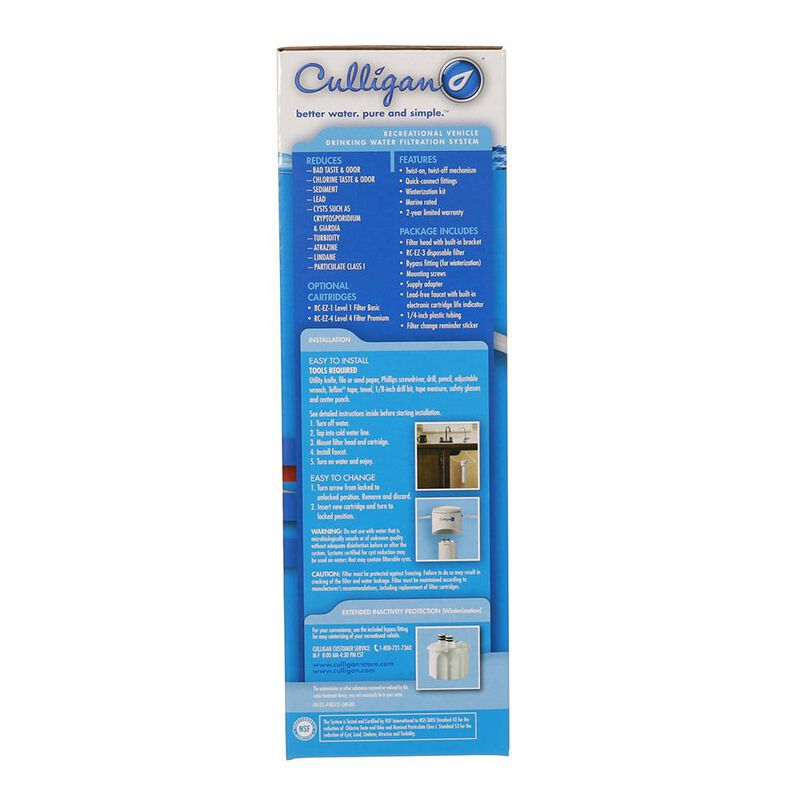 Culligan RV-EZ-3 Undersink Water Filter Kit with Faucet image number 2