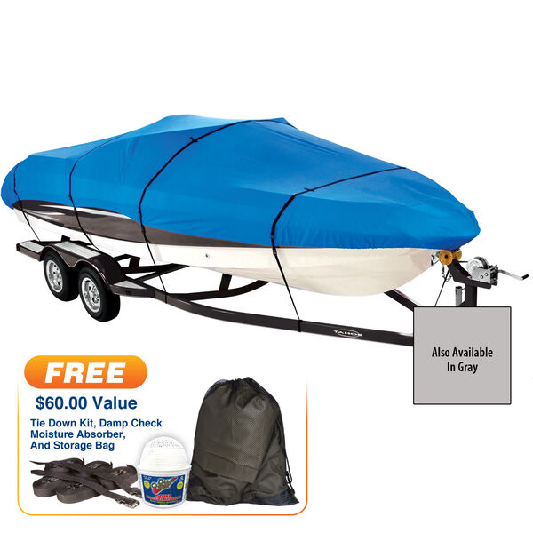 """Covermate Imperial Pro V-Hull Outboard Boat Cover, 15'5"""" max. length"""