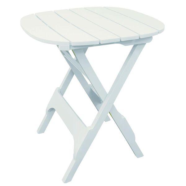 "Quik-Fold 34"" Bistro Table, White"