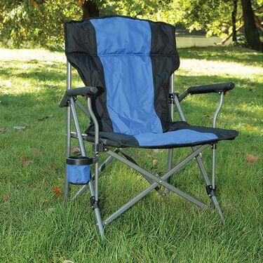 Padded Quad Chair, Blue