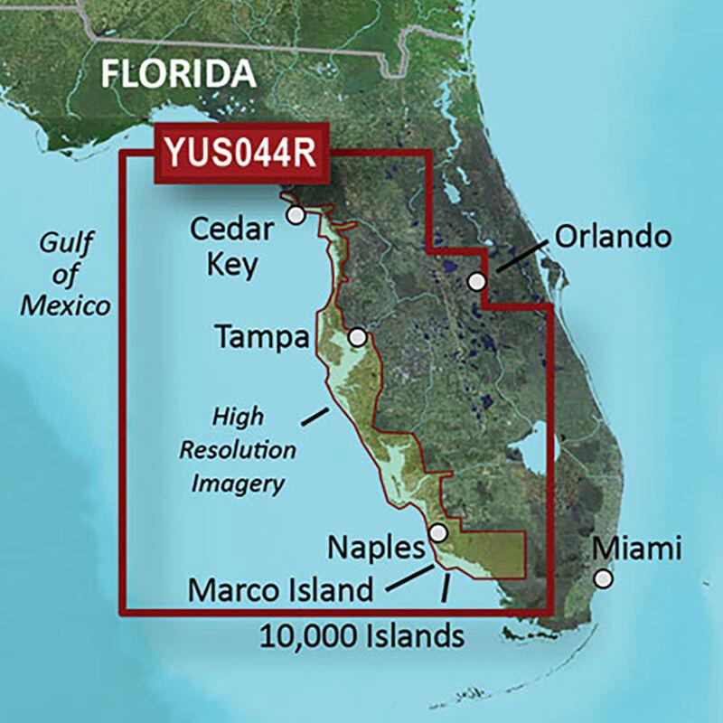 Garmin BlueChart g2 HD Cartography, Florida Gulf Coast image number 1