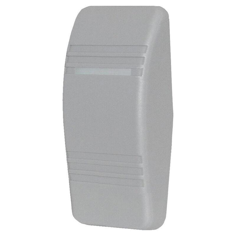 Blue Sea Contura Rocker Switch Actuator, solid w/no indicator light, gray image number 1