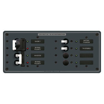 Blue Sea 230V AC Circuit Breaker Panel - 2 (32A) Sources + 4 Positions