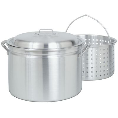 Bayou Classic® 24-qt Aluminum Stockpot with Lid and Basket