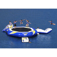 Aquaglide SuperTramp 14' Trampoline, Blast Air Bag, And Plunge Slide Set