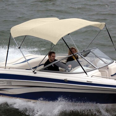 """Shademate Bimini Top Polyester Fabric and Boot Only, 3-Bow 6'L, 36""""H, 73""""-78""""W"""