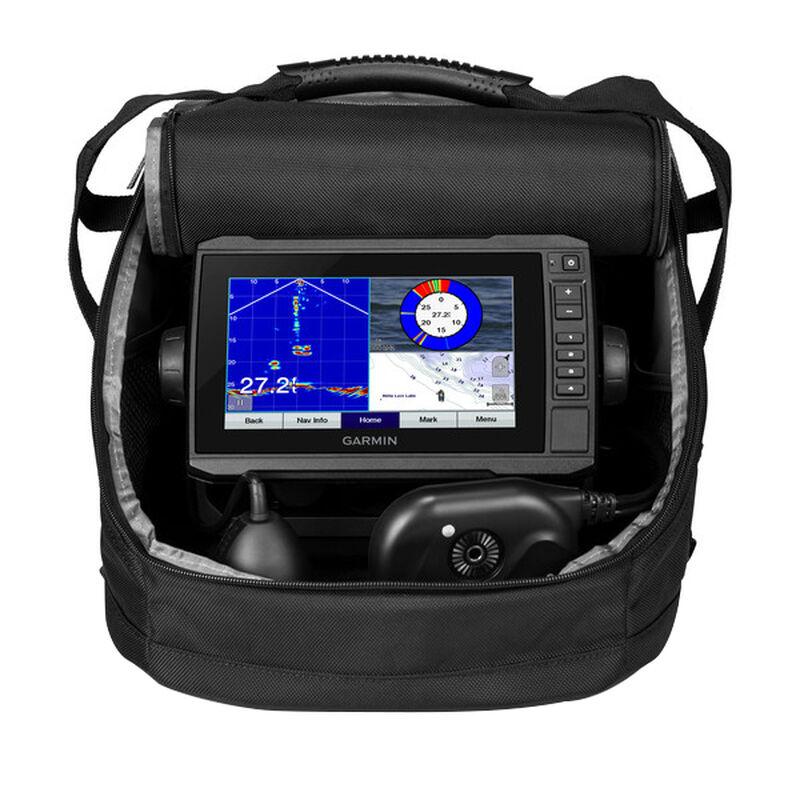 Garmin Panoptix Ice Fishing Bundle with ECHOMAP Plus 73cv Chartplotter image number 1