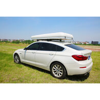 Trustmade Hard Shell Rooftop Tent, White Shell / Light Gray Tent