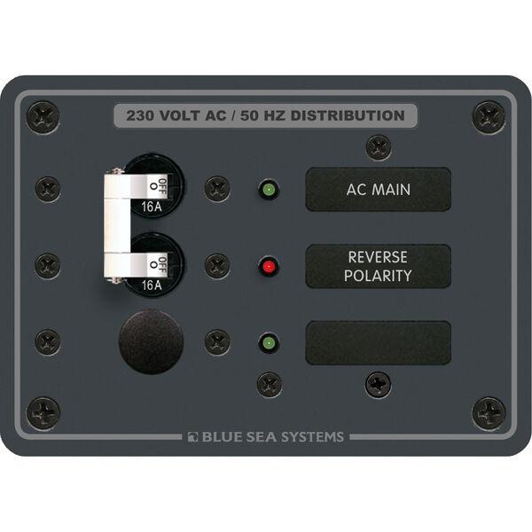Blue Sea Systems Panel, 230V AC (European), AC Main + 1 Position