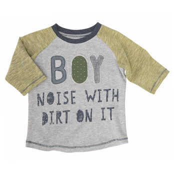 Mud Pie Boys' Boy Definition Long-Sleeve Tee