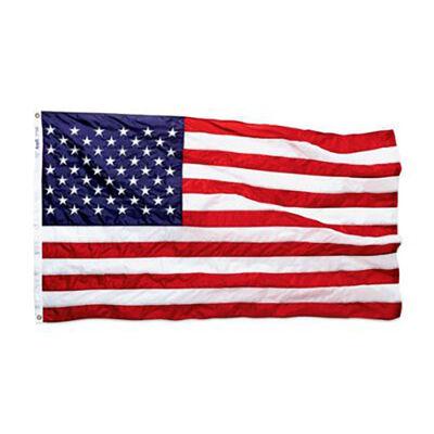 Annin Nylon Embroidered American Flag, 3' x 5'