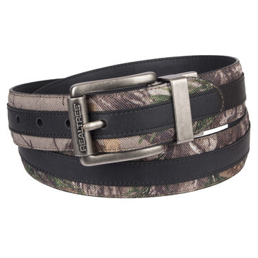 "Realtree Men's 1.5"" Reversible Feather-Edge Belt with Center Overlay"
