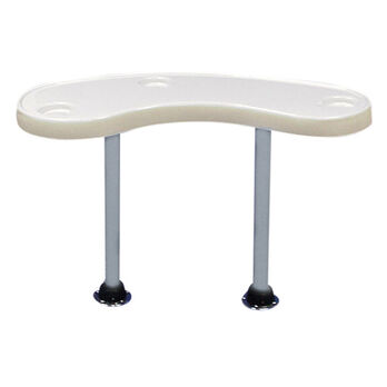 Toonmate Premium Large Kidney-Shaped Pontoon Table with Two Legs