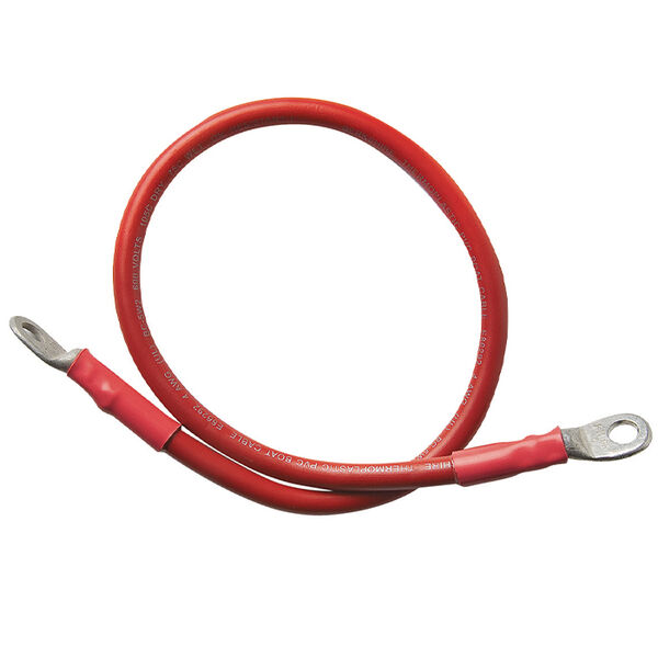 2-Gauge Red Battery Cable, 24""