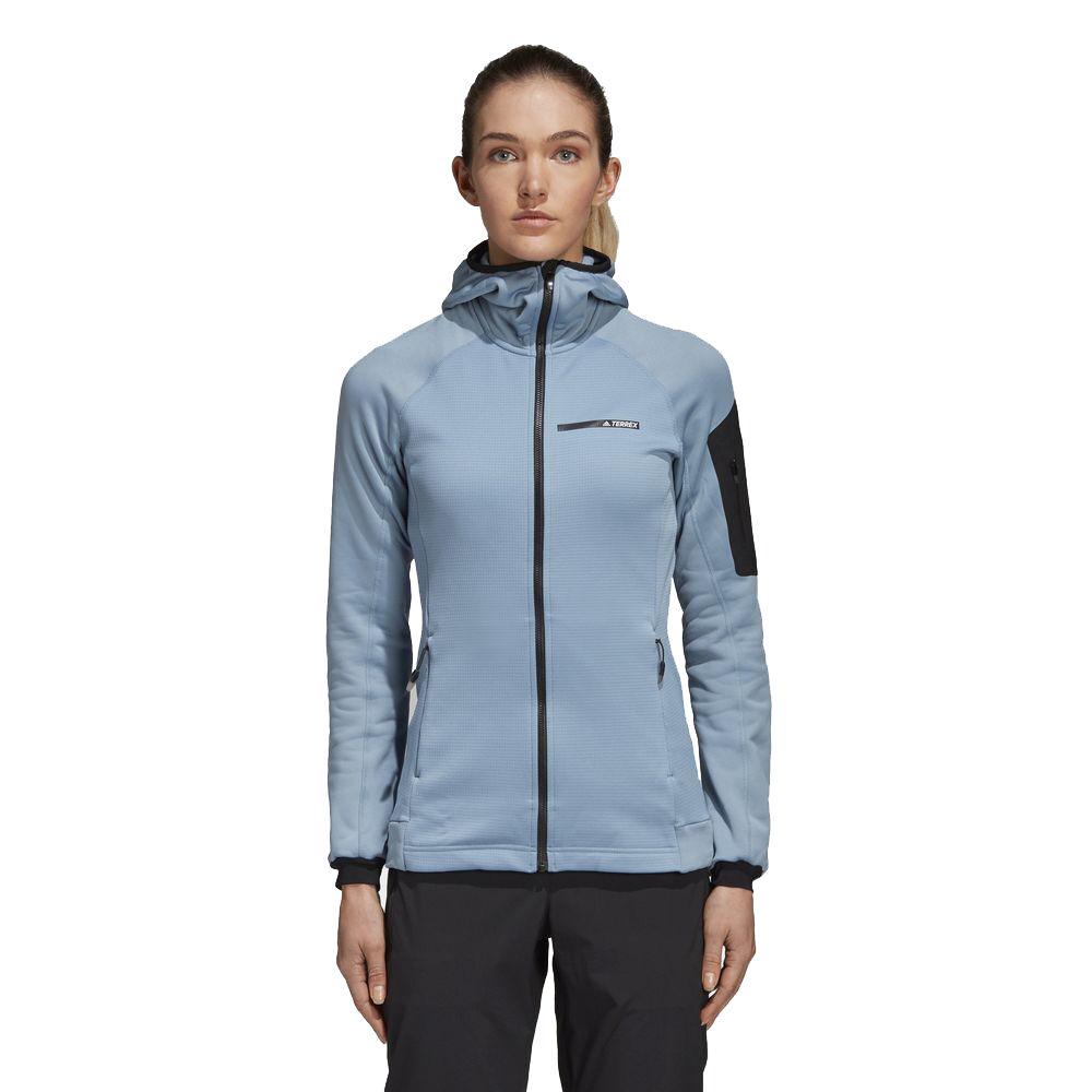 adidas Terrex Stockhorn Hooded Fleece Jacket Blue | adidas US