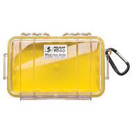 Pelican 1040 Micro Case With Carabiner, Yellow/Clear Lid