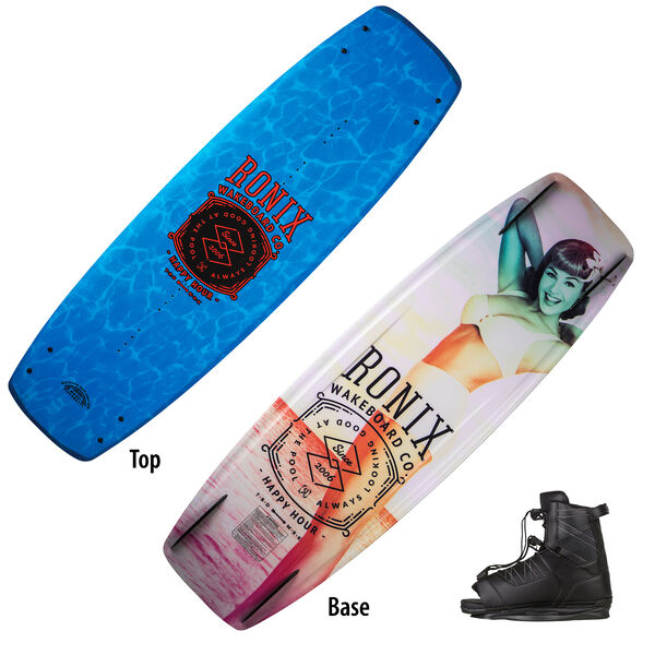 Ronix Happy Hour Wakeboard With Divide Bindings