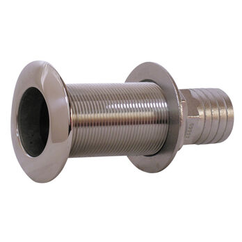 """Whitecap Stainless Steel Thru-Hull Fitting With Barb For 1-1/8"""" Hose"""