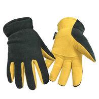 Hand Armor Men's Lined Fleece Glove with Deerskin Suede Palm