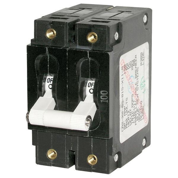 Blue Sea AC Circuit Breaker C-Series Toggle Switch, Double Pole, 60A