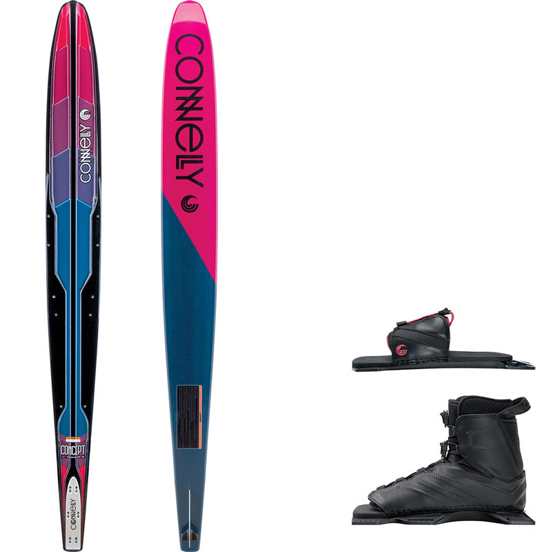 Connelly Women's Concept Slalom Waterski With Tempest Binding And Rear Toe Plate image number 1