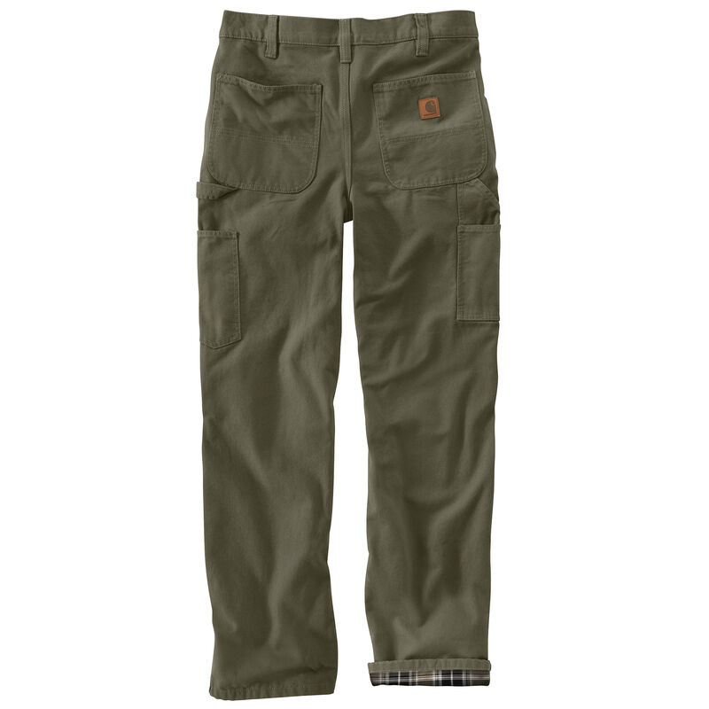 Carhartt Men's Washed Duck Flannel-Lined Dungaree Pant image number 8