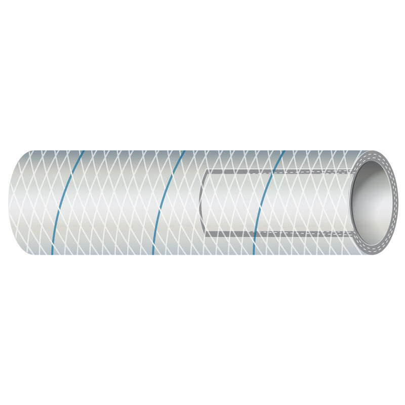 "Shields 1/2"" Polyester-Reinforced Blue-Tracer Tubing, 50'L image number 1"