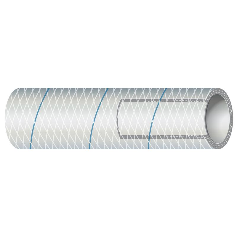 "Shields 5/8"" Polyester-Reinforced Blue-Tracer Tubing, 50'L image number 1"