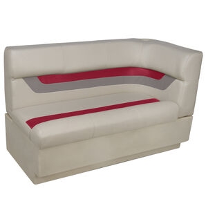 Toonmate Designer Pontoon Left-Side Corner Couch - TOP ONLY - Platinum/Dark Red/Mocha