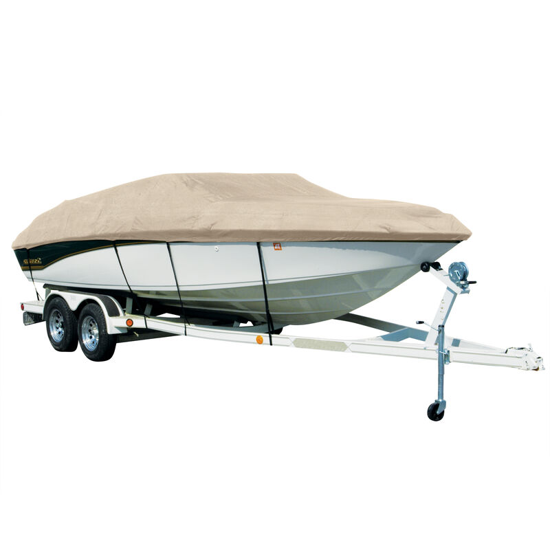 Covermate Sharkskin Plus Exact-Fit Cover for Seaswirl Striper 2120 Striper 2120 Cuddy Soft Top With Pulpit I/O image number 6