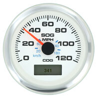 "Sierra White Premier Pro 3"" GPS Speedometer With LCD, 120 MPH"