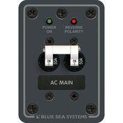 Blue Sea 120V AC Main Circuit Breaker Panel, 50A, white