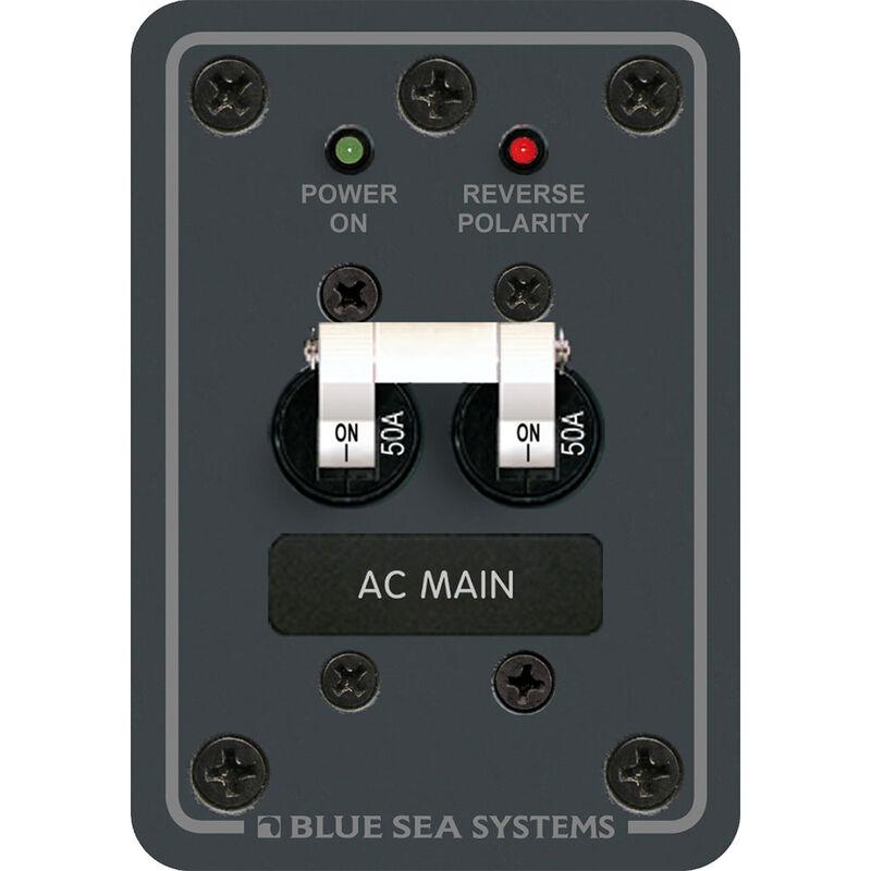 Blue Sea 120V AC Main Circuit Breaker Panel, 50A, white image number 1