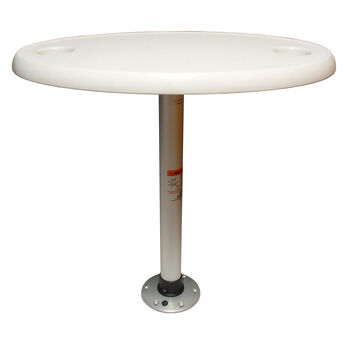 Springfield Oval Table Package With Thread-Lock Pedestal