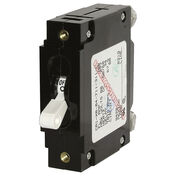 Blue Sea Circuit Breaker C-Series Toggle Switch, Single Pole, 100A, White
