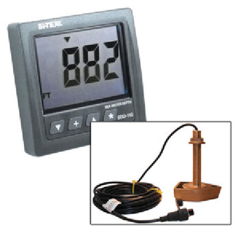Si-Tex SDD-110 Seawater Depth Indicator With Bronze Thru-Hull Transducer