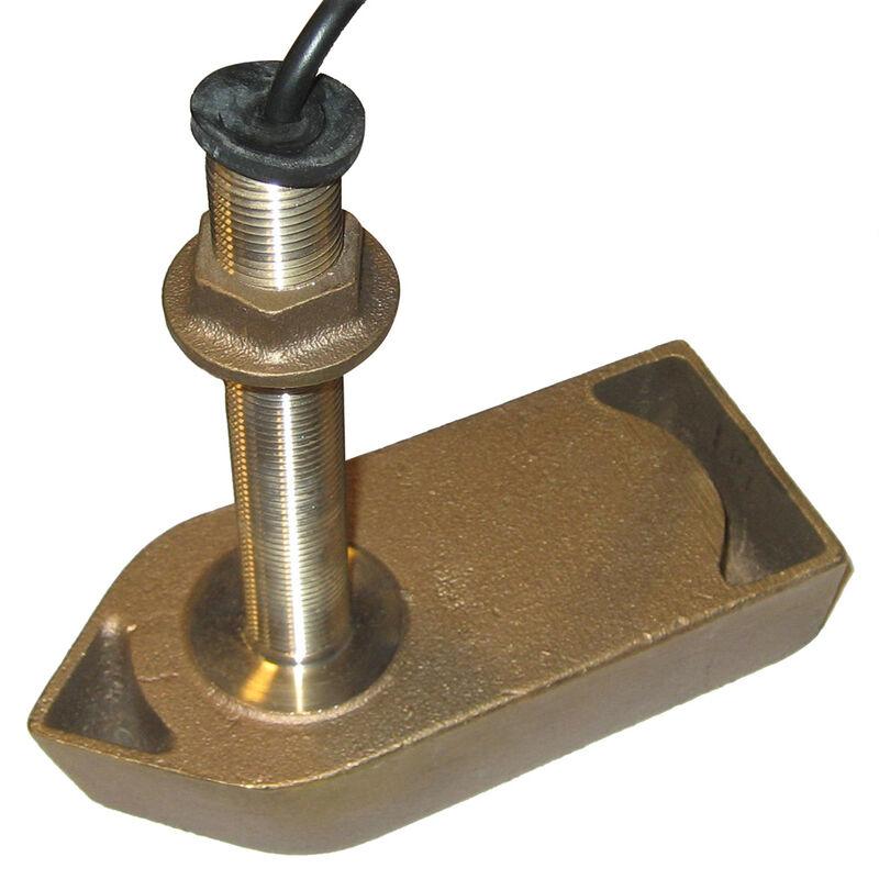 SI-TEX Bronze Thru-Hull Transducer for SVS-650, CVS-126, & CVS-128 image number 1