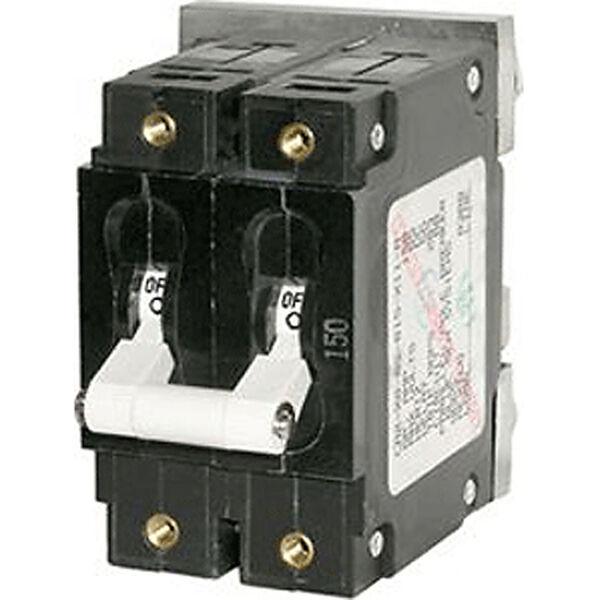Blue Sea DC Circuit Breaker C-Series Toggle Switch, Double Pole, 175A