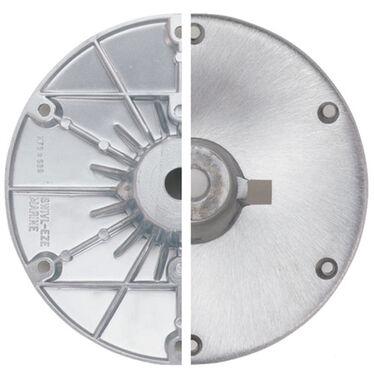 "Swivl-Eze Wedge Brushed Aluminum Base Plate for 2"" and 2-3/8"" Wedge Pedestals"