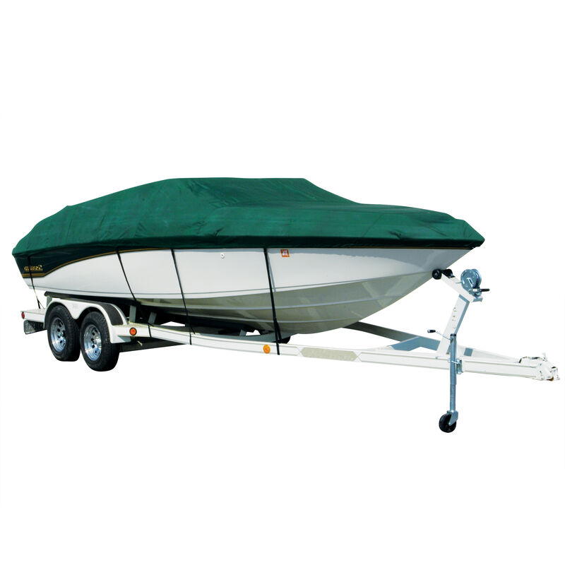 Exact Fit Covermate Sharkskin Boat Cover For TAHOE Q3 w/MOTOR GUIDE TROLL MOTOR image number 4