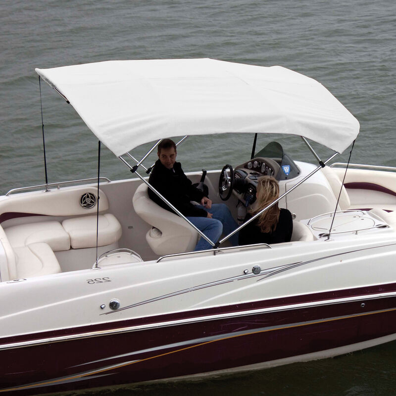 """Shademate Bimini Top Polyester Fabric and Boot Only, 4-Bow 8'L, 42""""H, 79""""-84""""W image number 7"""