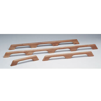 "SeaForce Teak Five-Loop Handrail, 53""L x 2-3/8""H x 1""D"