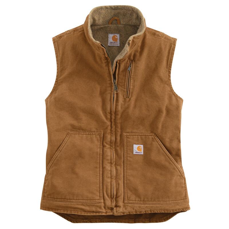 Carhartt Women's Sandstone Sherpa-Lined Mock-Neck Vest image number 10
