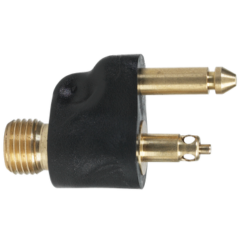 """Scepter Brass Male Tank Connector With 1/4"""" NPT For Johnson/Evinrude"""