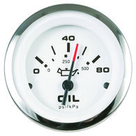 """Sierra Lido 2"""" Oil Pressure Gauge, 0-80 PSI"""